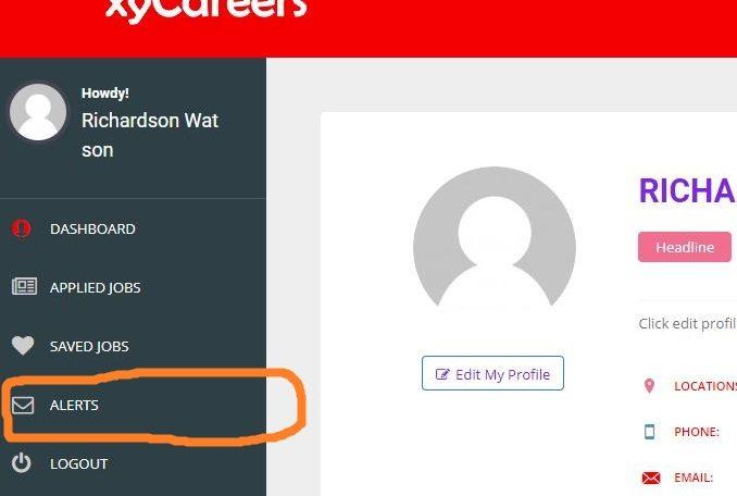 job seeker dashboard