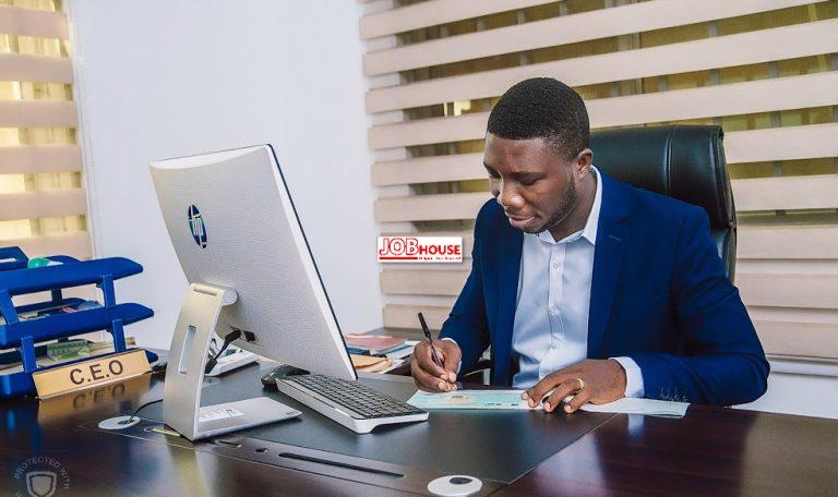 CEO at desk